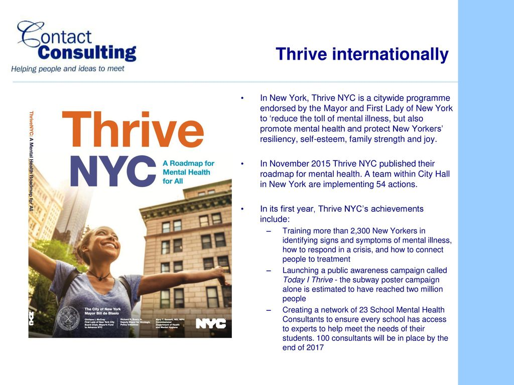 Thrive Citywide Approaches To Mental Health Wellbeing 13 July Ppt