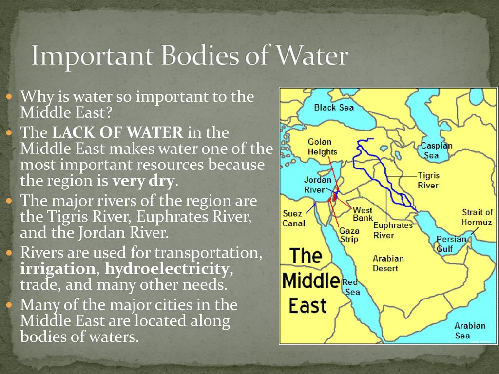 Jordan River Middle East Map.Geography And Environmental Issues Of The Middle East Ppt Download