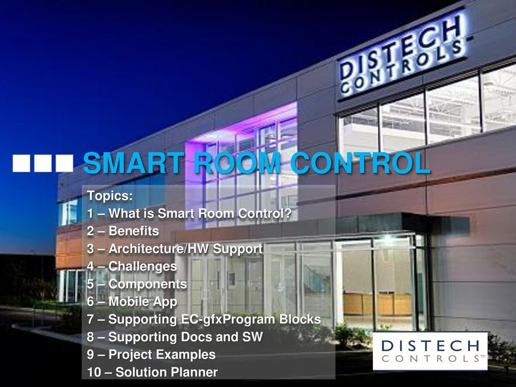 SMART ROOM CONTROL Topics: 1 – What is Smart Room Control? - ppt ...