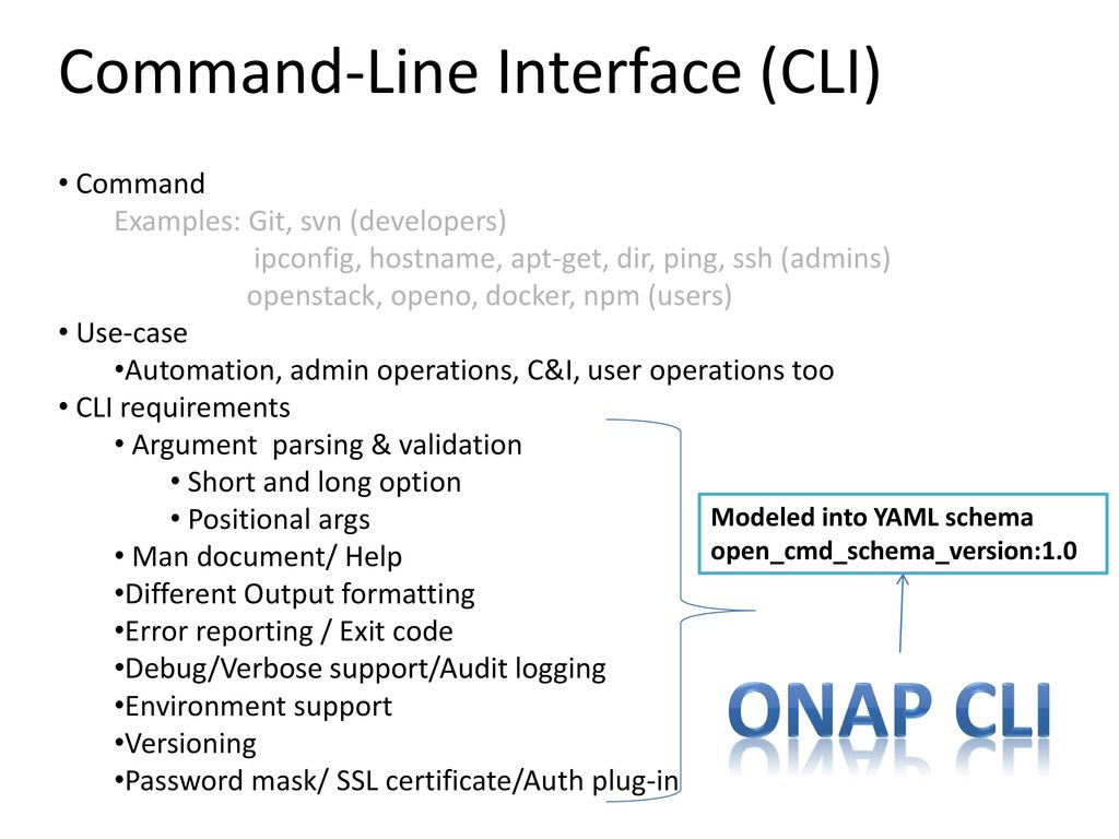 ONAP CLI (Command-Line Interface ) Architecture - ppt download