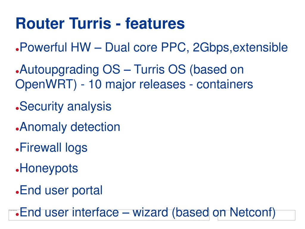 Project Turris And its child Turris Omnia - ppt download