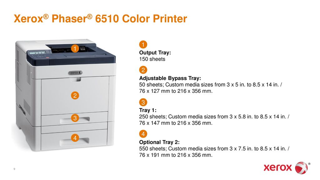 xerox phaser 6510 color printer and xerox workcentre 6515 color