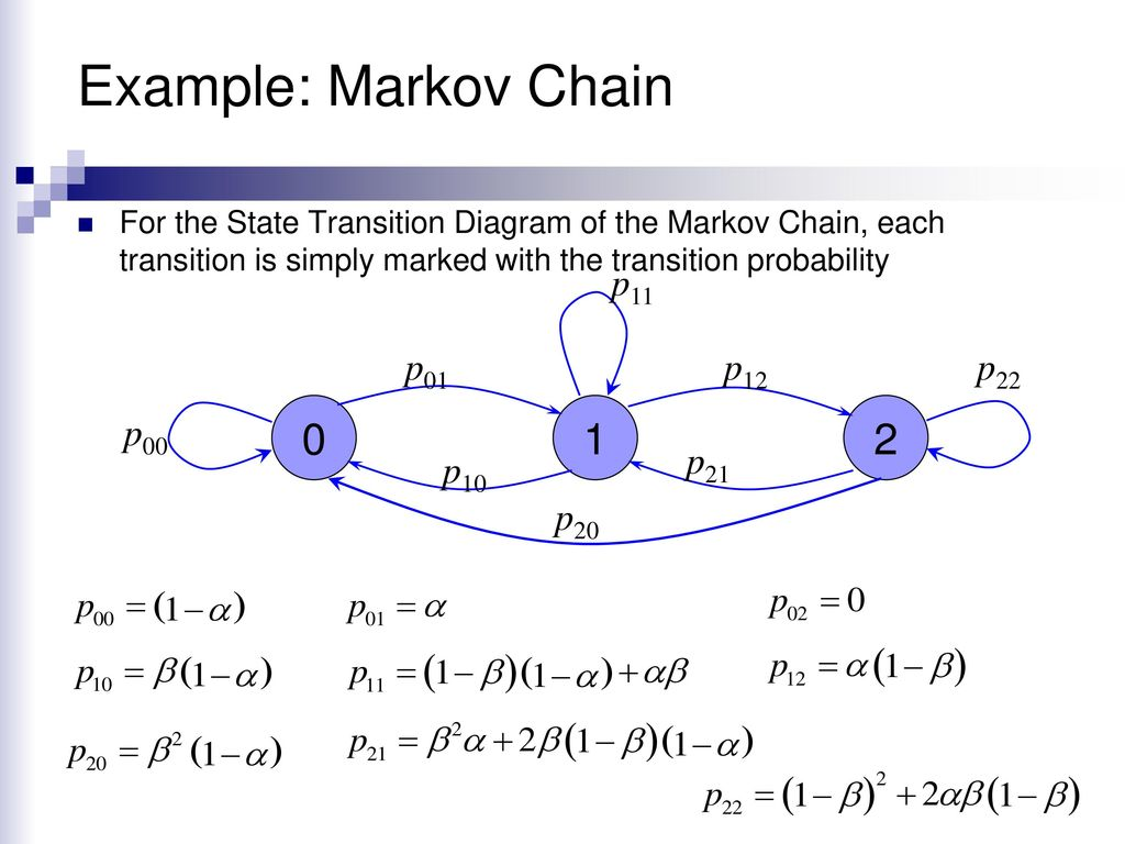 Markov Chains Ppt Download Example Of State Transition Diagram 10