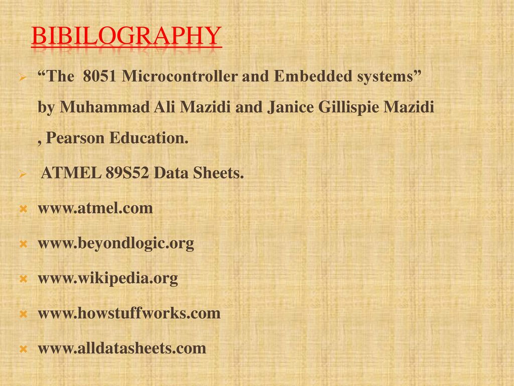 Rf Based Home Automation System Ppt Download 8051 Microcontroller Diagram Bibilography The And Embedded Systems By Muhammad Ali Mazidi Janice Gillispie