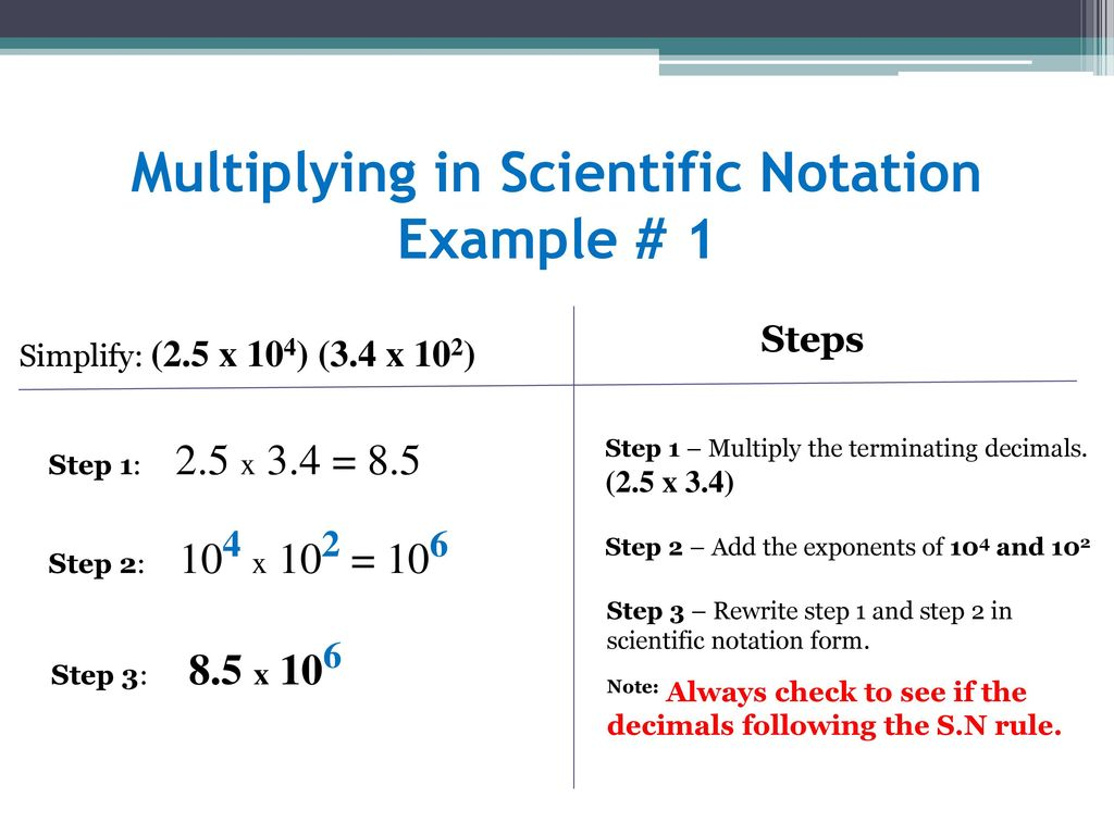 operations with scientific notation (part i, ii, iii, iv) - ppt download