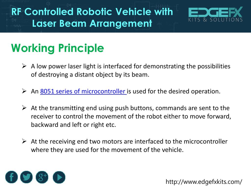 Rf Controlled Robotic Vehicle With Laser Beam Arrangement Ppt Download Dtmf Based Robo Car Design Circuit Using 8051 Microcontroller