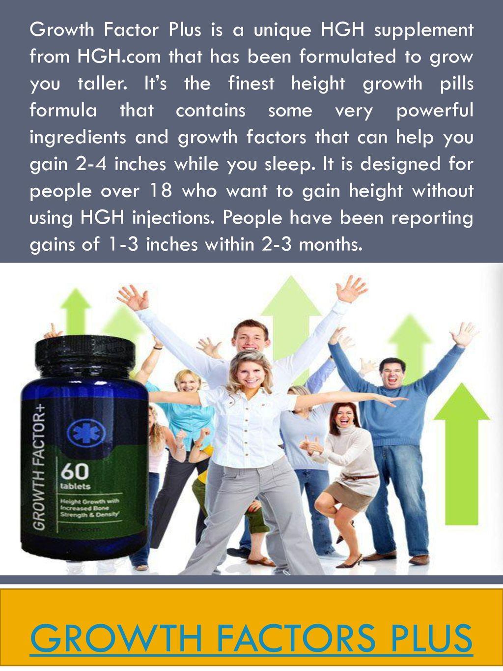 Growth Factor Plus is a unique HGH supplement from HGH - ppt download