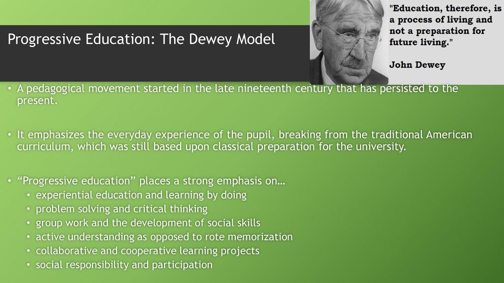 what led to the progressive education movement