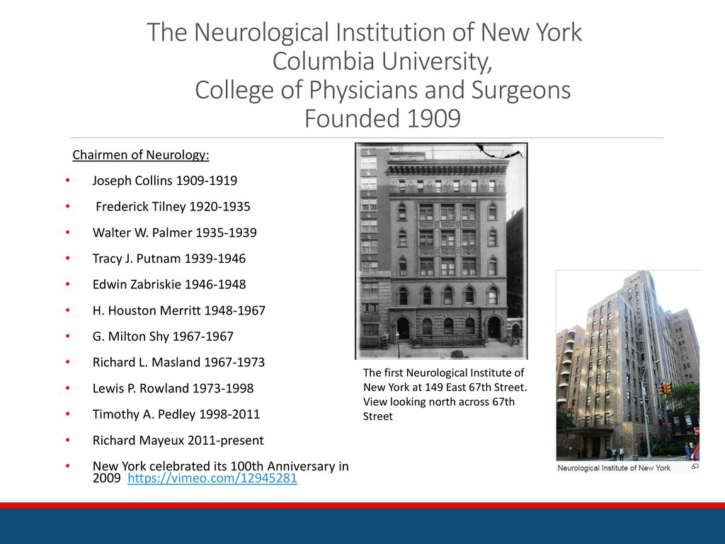 History of Neurology Early New York Neurology – Part 2 - ppt