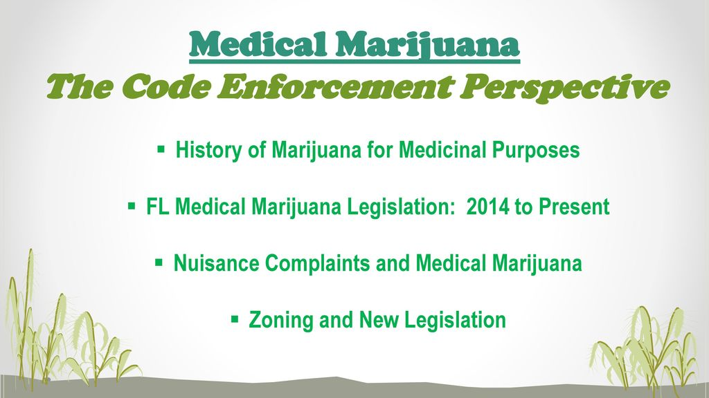 the use and applications of marijuana for medical purposes The office of medical marijuana use is charged with writing and implementing the department's rules for medical marijuana, overseeing the statewide medical marijuana use registry, and licensing florida businesses to cultivate, process, and dispense medical marijuana to qualified patients.