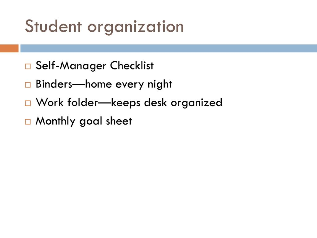 Welcome families please be sure to sign in and take a curriculum student organization self manager checklist bindershome every night thecheapjerseys Gallery