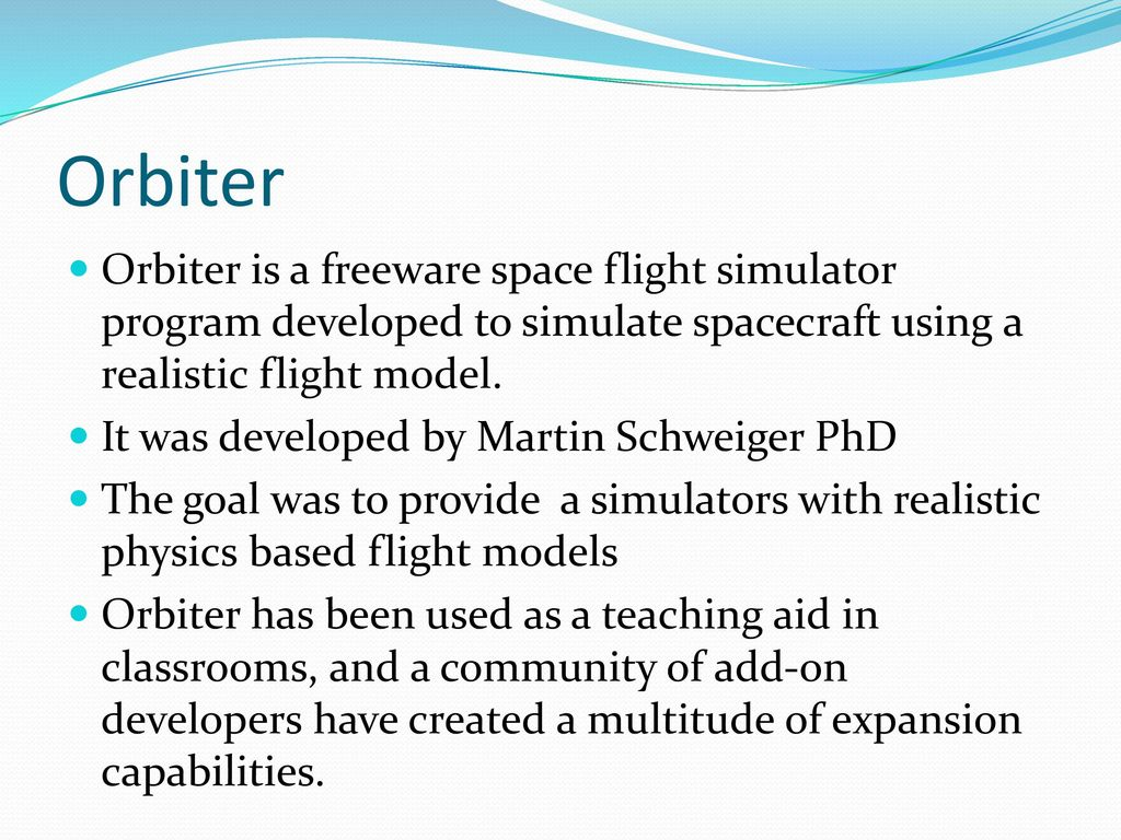 Space Flight Simulator Instructional System - ppt download
