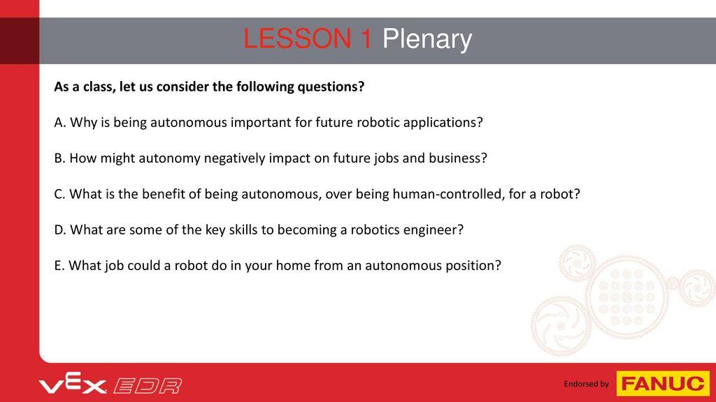 Unit 4: Autonomous Robotics - ppt download