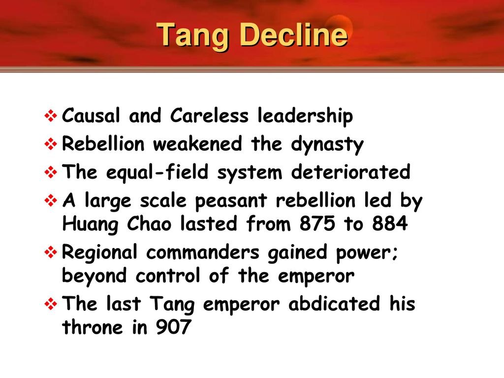 in the 840s tang emperors