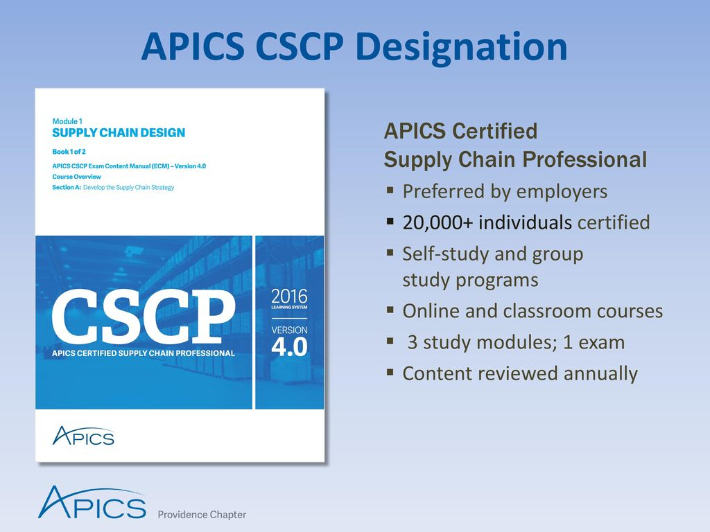 Can you recommend a good online course for the APICS CSCP ...