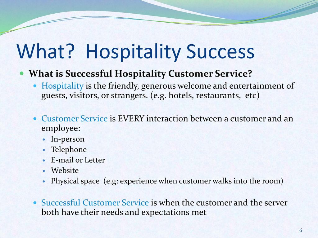 What Hospitality Success