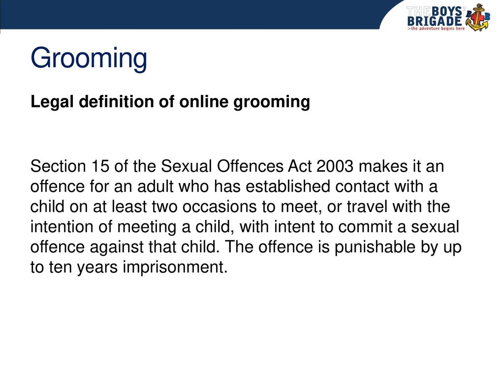 Online grooming definition