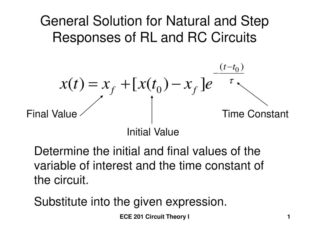 General Solution For Natural And Step Responses Of Rl Rc Circuit Pictures Circuits