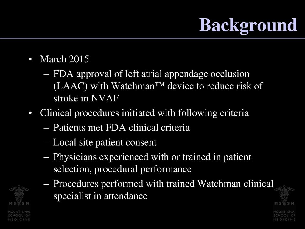 Post-FDA Approval, Initial US Clinical Experience with