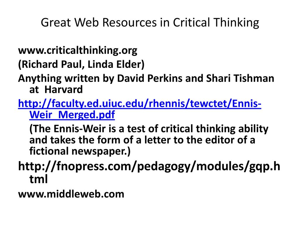 ennis h. (1987). a taxonomy of critical thinking dispositions and abilities (9) see, for example, robert h ennis, a taxonomy of critical thinking dispositions and abilities, in joan boykoff baron and robert j sternberg (eds), teaching thinking skills: theory and practice new york: w h freeman, 1987: 9-26.