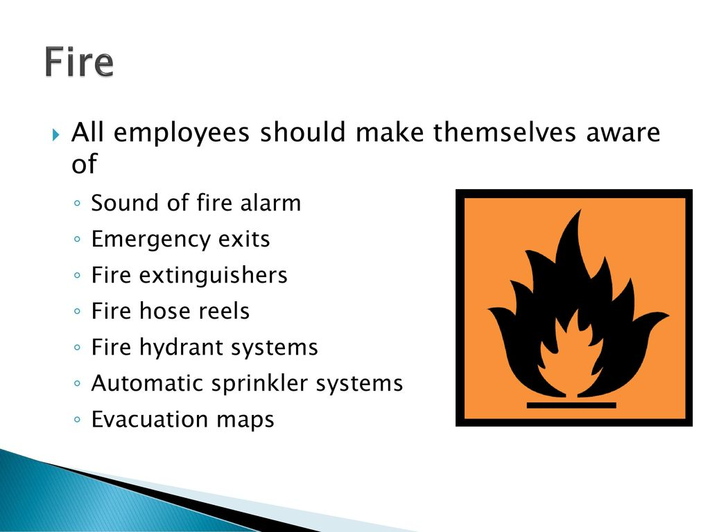 Workplace Health and Safety IV Emergency Procedures - ppt download