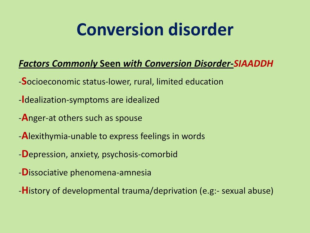 somatoform disorders sfd - ppt download