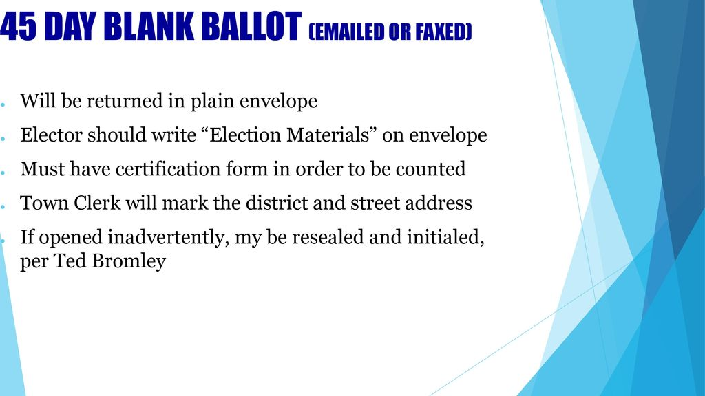 Ballots for the Presidential Election - ppt download