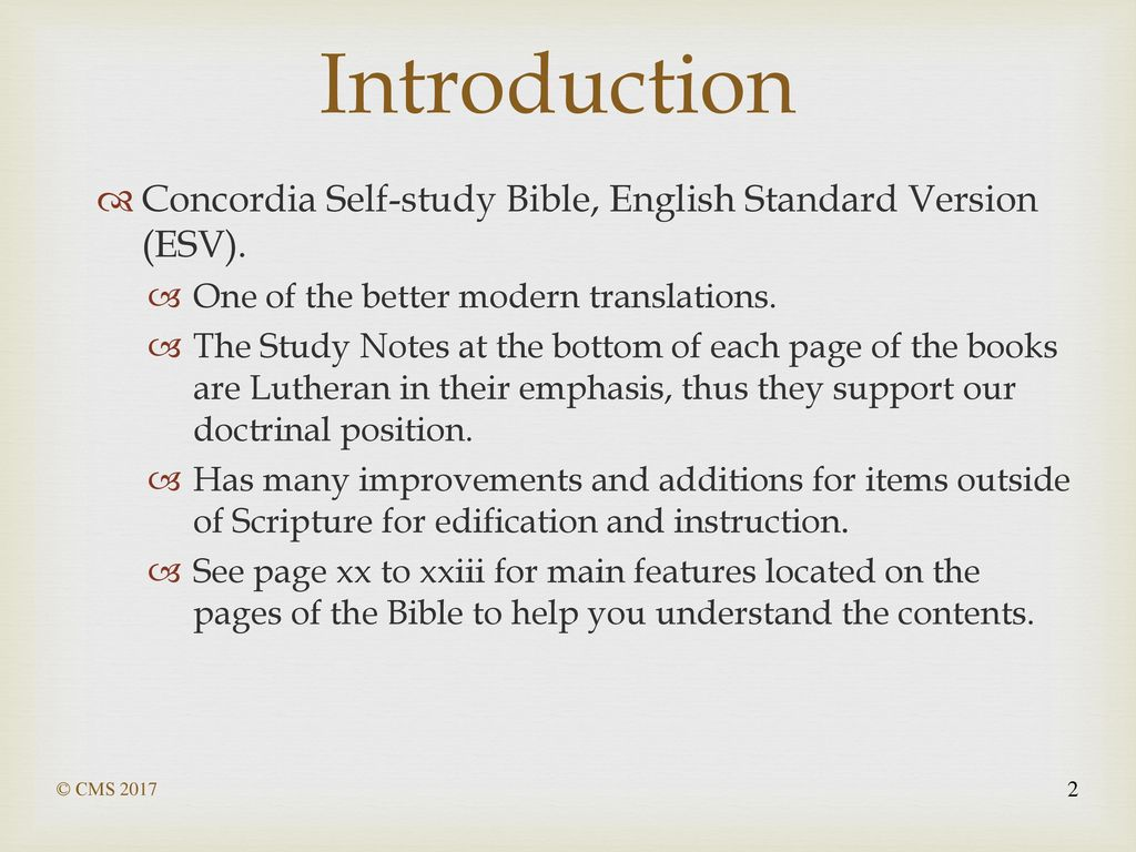 How to Use Your ESV Study Bible - ppt download
