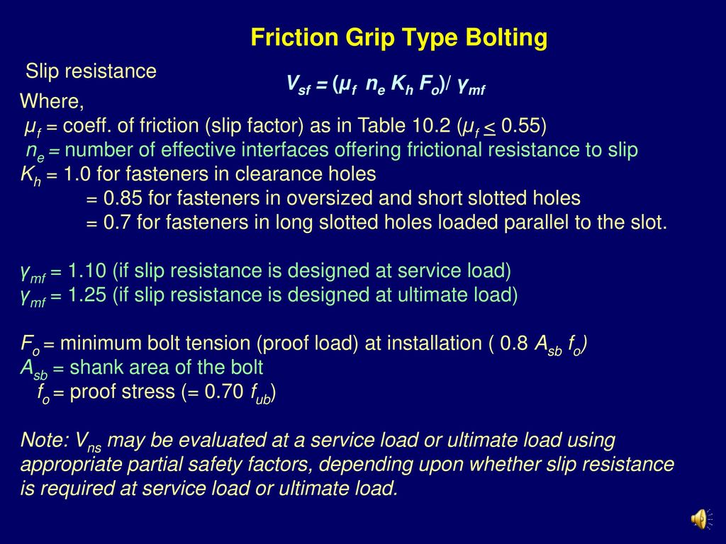 Friction Grip Type Bolting