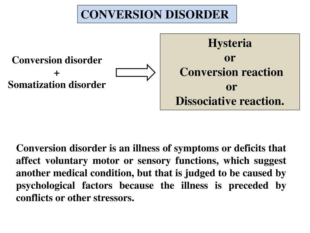 362e43a94080 Dissociative reaction. Somatization disorder