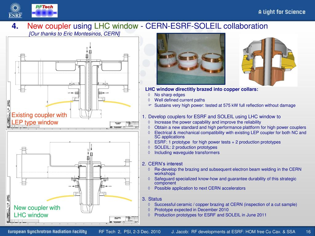 J Jacob Rf Developments At Esrf Hom Free Cu Cav Ssa Ppt Download Jacobs Ignition System Wiring Diagram