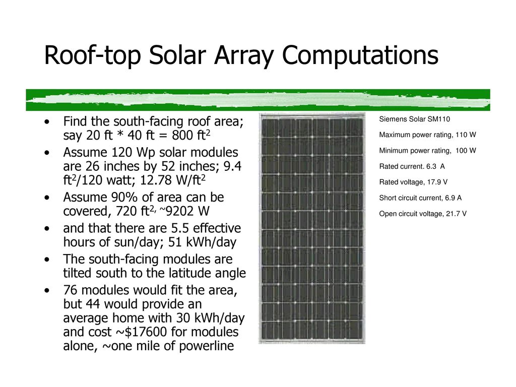Solar Electric Energy Basics - ppt download