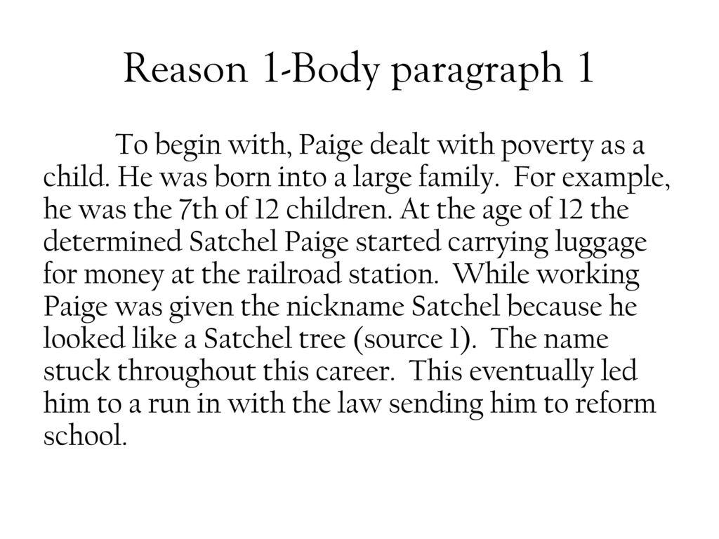 poverty body paragraph