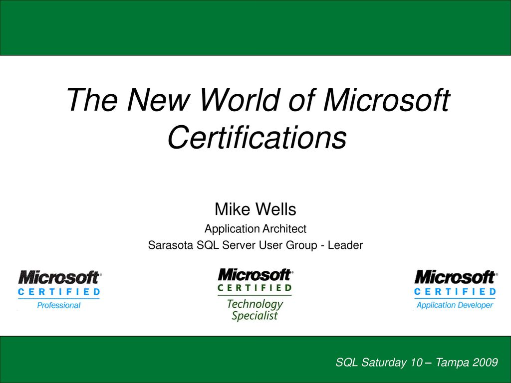 The new world of microsoft certifications ppt download the new world of microsoft certifications malvernweather Image collections