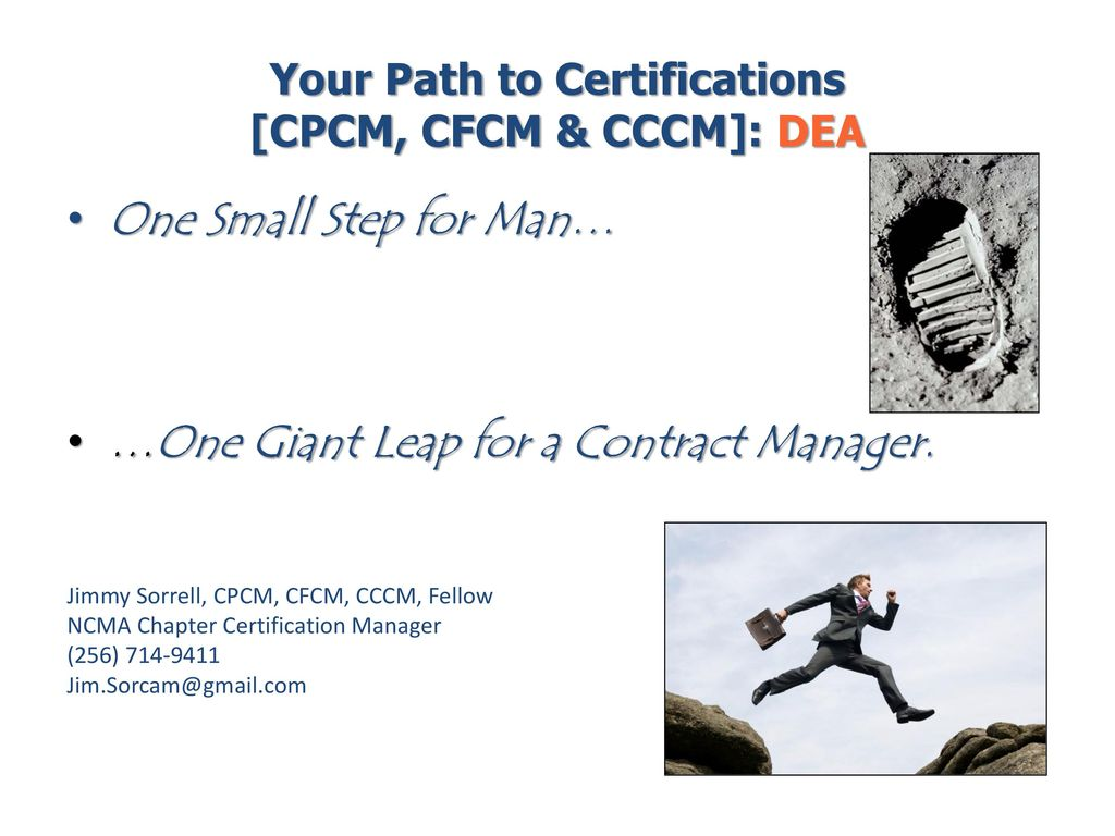 Your Path To Certifications Cpcm Cfcm Cccm Dea Ppt Download