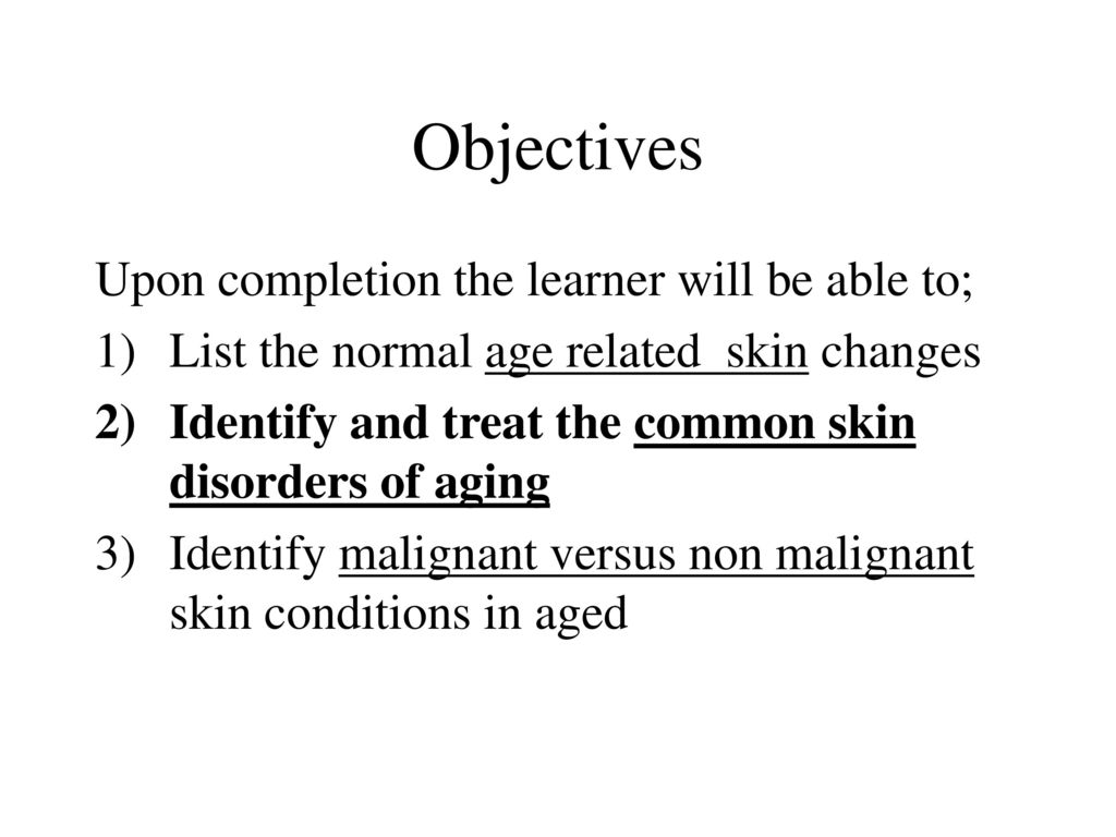 """THE SKIN SHOW"""" Aging Dermatology and Disease Module #2 - ppt"""