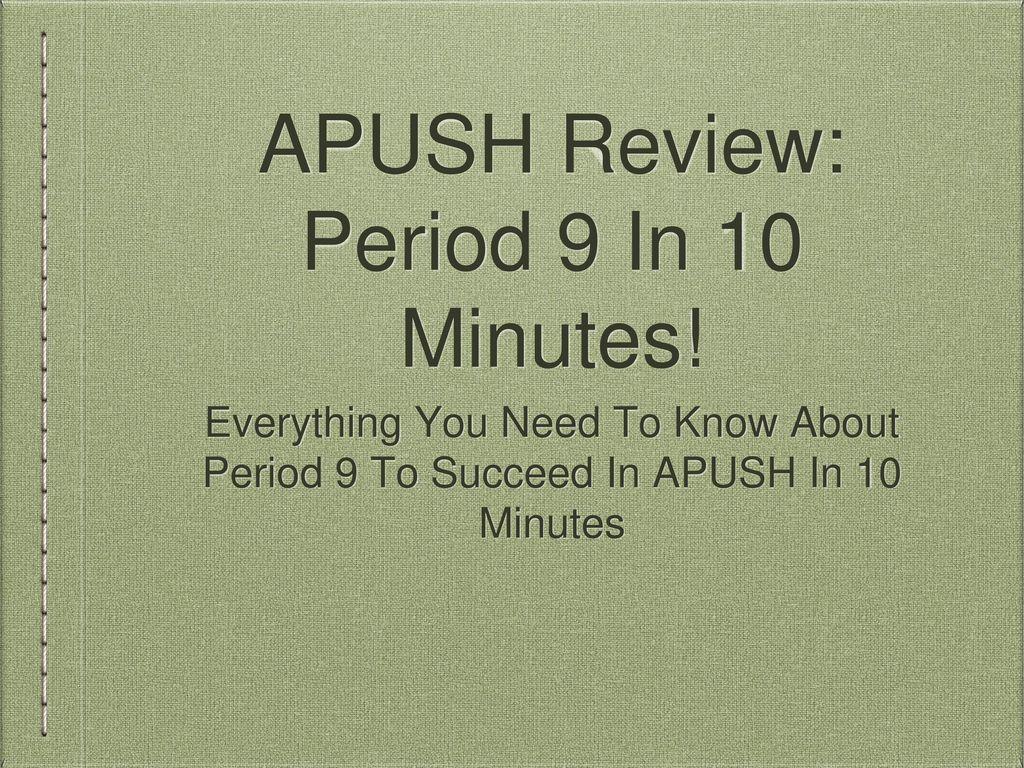 Apush Period 9 Ppt