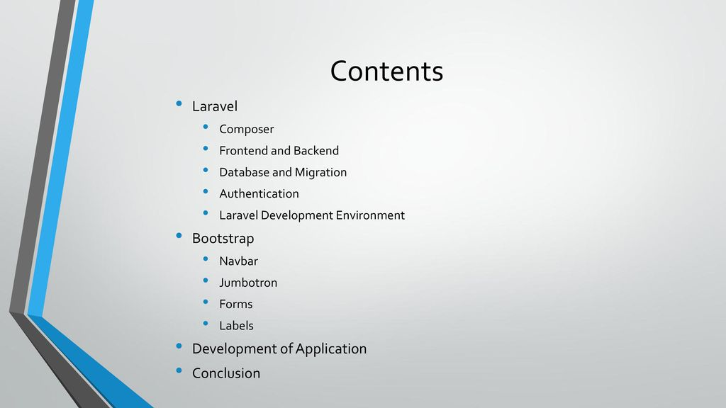Web Application Development with Laravel and Bootstrap - ppt download