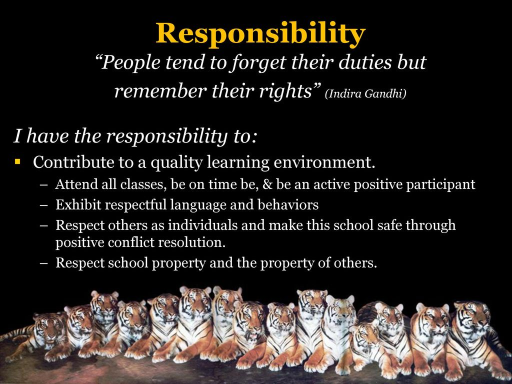 Respect rights responsibility ppt download responsibility people tend to forget their duties but altavistaventures Images