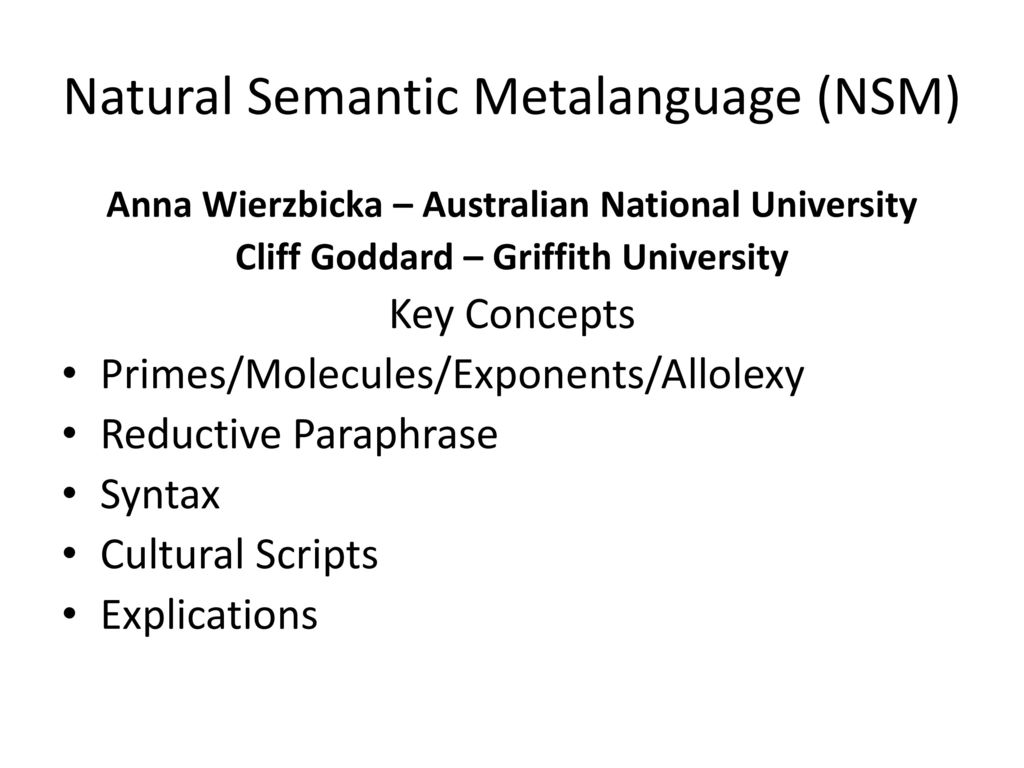 semantic and lexical universals wierzbicka anna goddard cliff