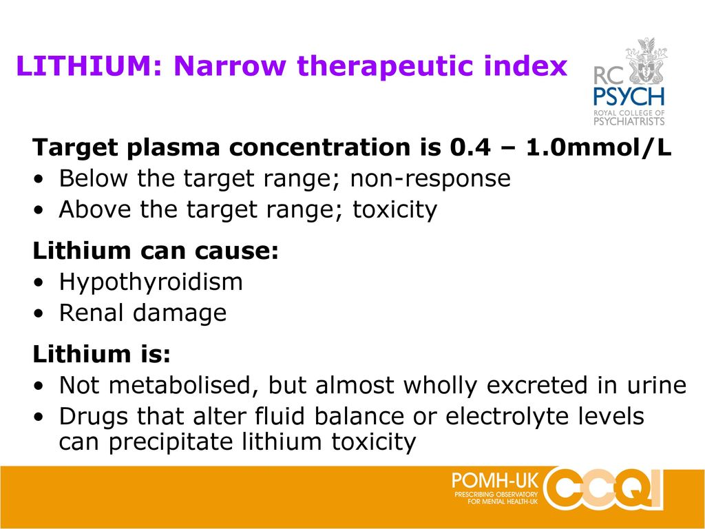 Monitoring of patients prescribed lithium - ppt download