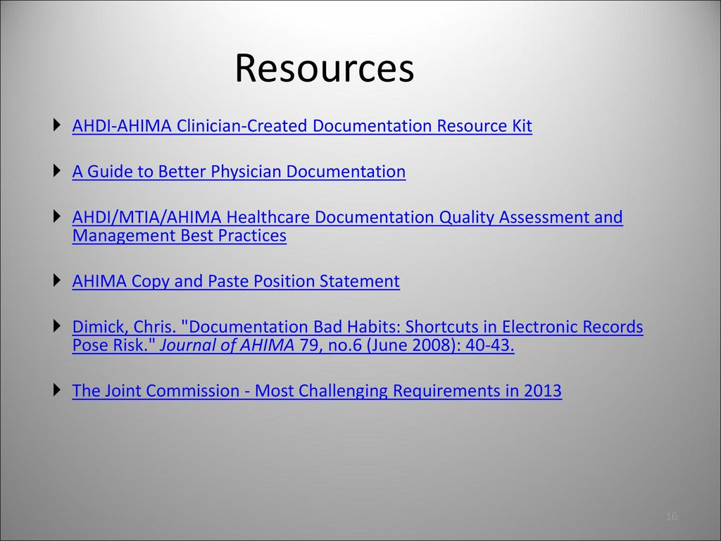 quality assurance qa for clinician created documentation ppt rh slideplayer com Meditech Physician Documentation Physician Documentation Accuracy