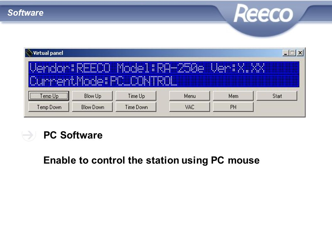 Enable to control the station using PC mouse