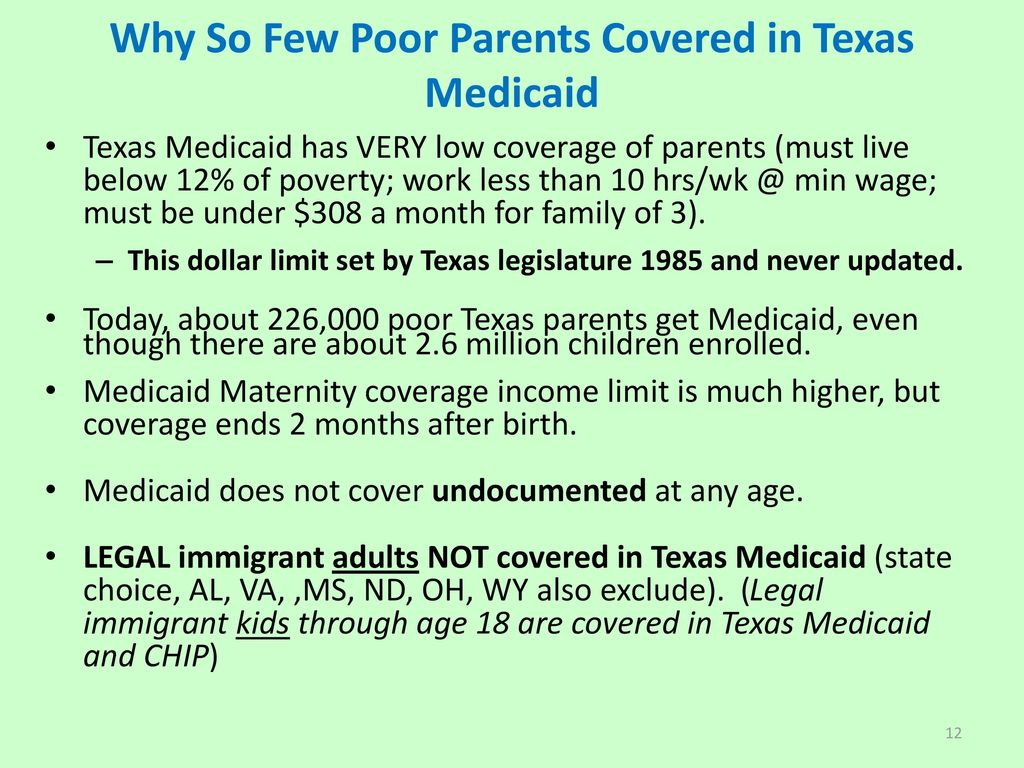 Texas adult medicaid low income can