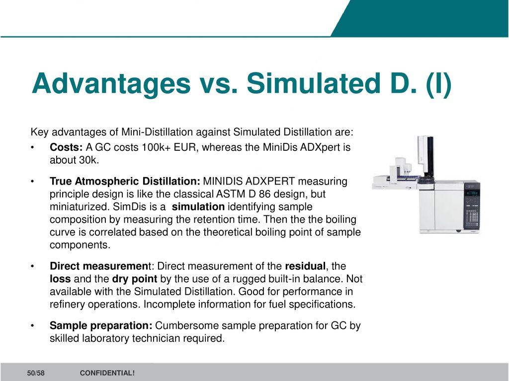 Benchmark for D86 distillation - ppt download