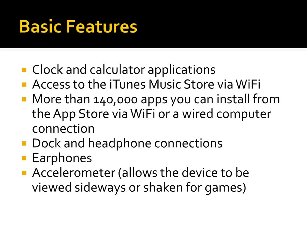 Basic Introduction and Use of Your iPod Touch - ppt download