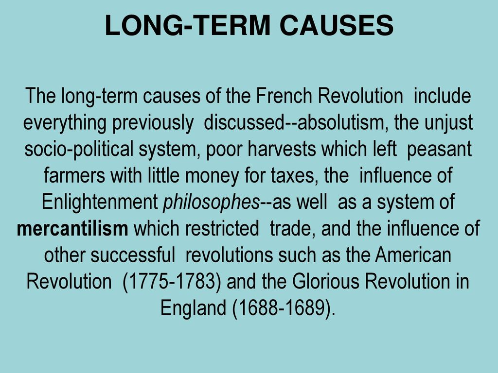 long term causes of french revolution