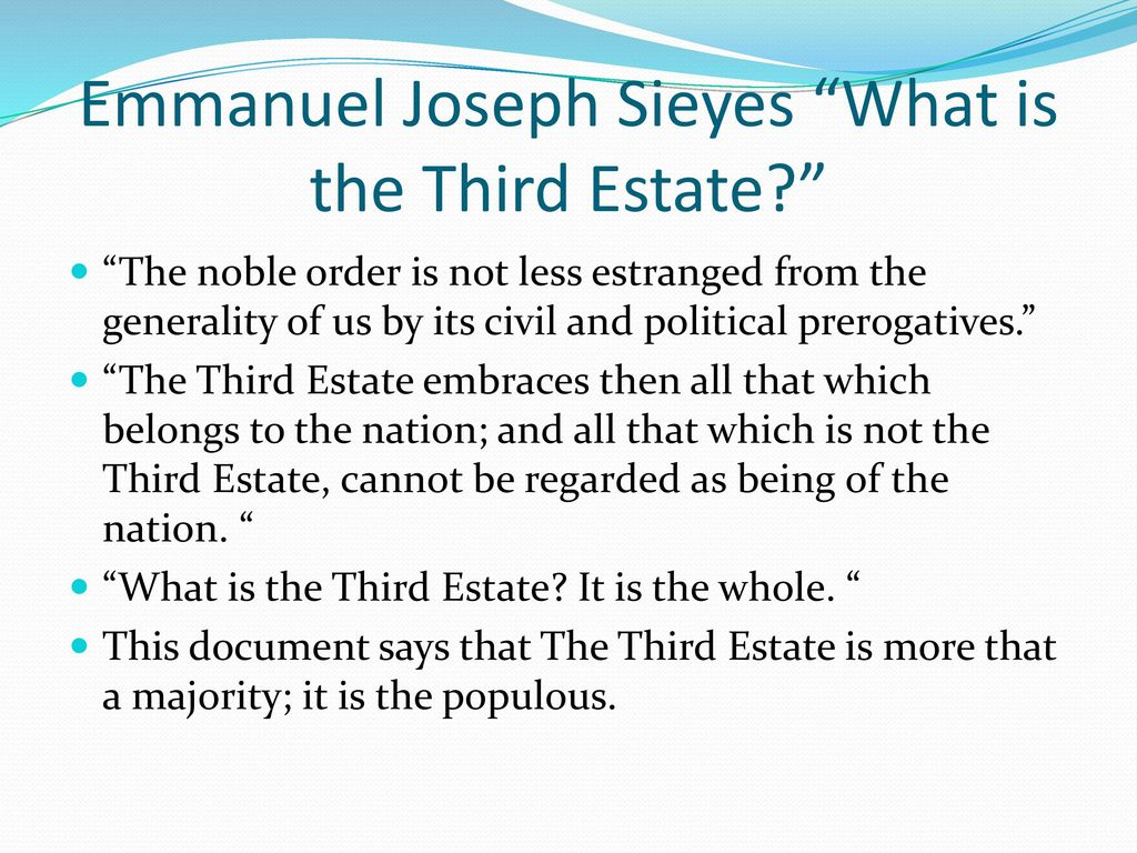 sieyes what is the third estate full text