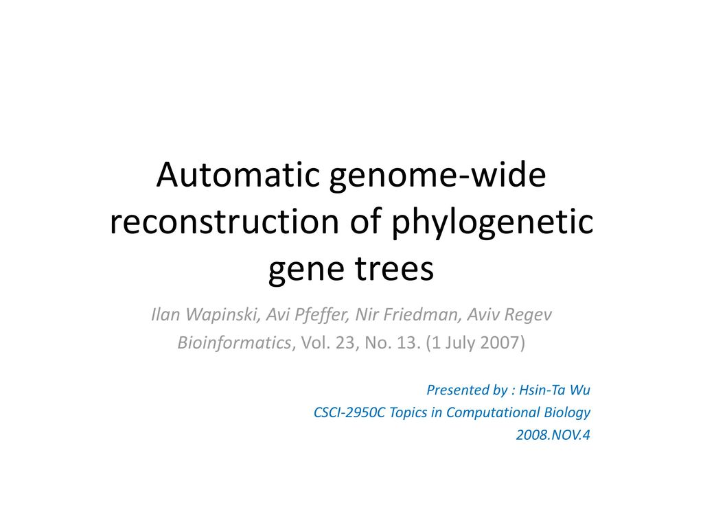 Automatic genome-wide reconstruction of phylogenetic gene trees
