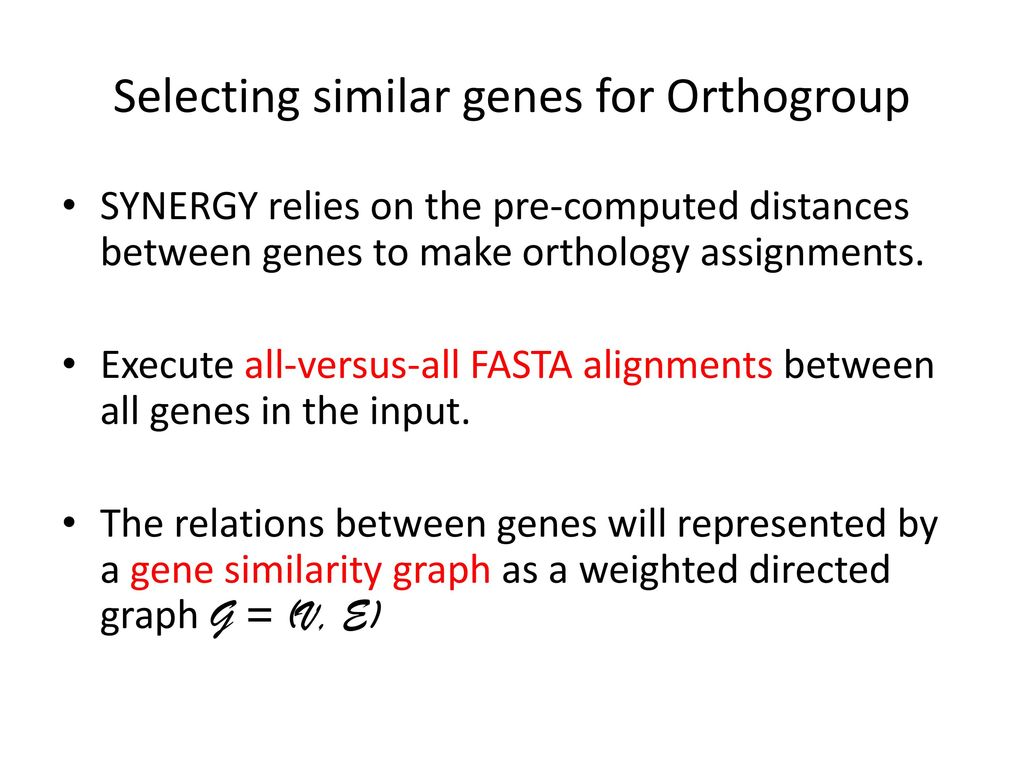 Selecting similar genes for Orthogroup